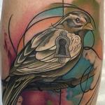 Abstract Watercolor Style Bird Tattoo Tattoo Design Thumbnail