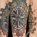 astrology calendar compass Tattoo Design Thumbnail