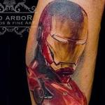 Iron Man Portrait Tattoo Tattoo Design Thumbnail