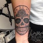 Simple Sugar Skull Tattoo Design Thumbnail