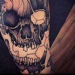 skull geomethric Tattoo Design Thumbnail