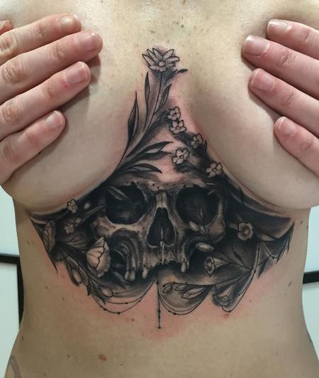 tattoos/ - Underboob Skull Tattoo - 122764