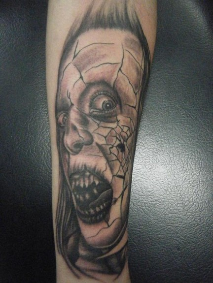 tattoos/ - Horror face  - 51762