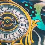 clock Tattoo Design Thumbnail