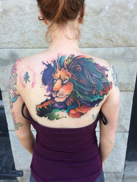 tattoos/ - Lion cover up  - 128284