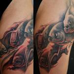 FreeHand Piranhas Leg Sleeve Tattoo Design Thumbnail