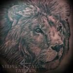 lion on right side of chest. Tattoo Design Thumbnail