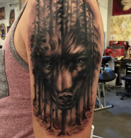 tattoos/ - Damon Conklin Wolf Woods - 131245