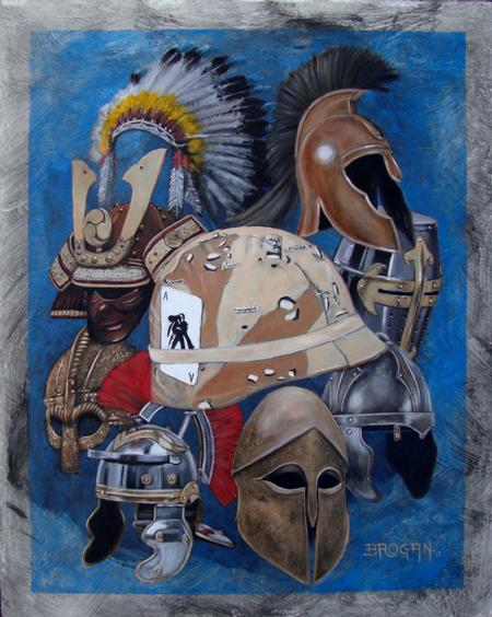 Art Galleries - Legendary Warriors Oil Painting by Larry Brogan - 70901