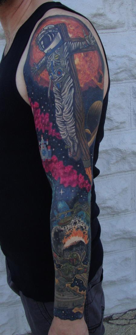tattoos/ - Astronaut Jesus Sleeve - 122409