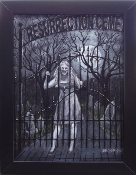 Art Galleries - Resurrection Mary Ghost painting by Larry Brogan - 70833