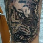 Angry Tiger Tattoo Design Thumbnail