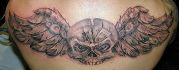 Looking for unique Luca Natalini Tattoos?  skull n' wings