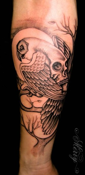 tattoos/ - Bird/Skull Tattoo - 52070