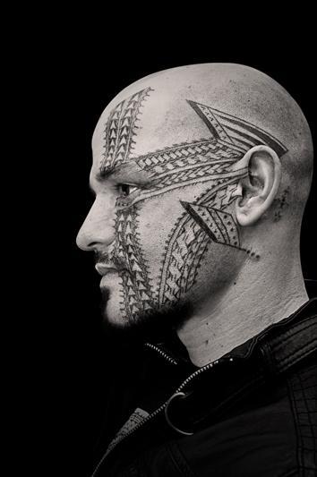 tattoos/ - Black Work Face Tattoo - 60478