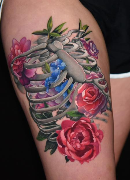tattoos/ - Floral Ribcage - 136213