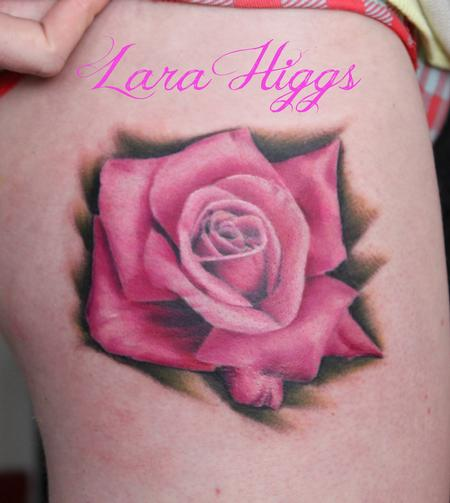 tattoos/ - Realistic pink rose - 108752