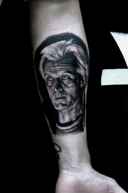 tattoos/ - Rutger Hauer Portrait Tattoo - 115690