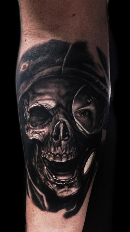 tattoos/ - Skull Gas Mask Tattoo - 115691
