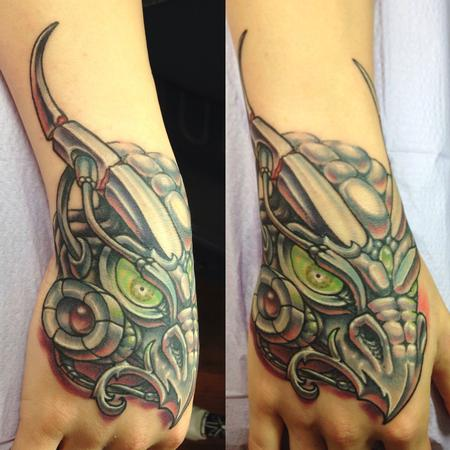tattoos/ - RoboDragon Hand tattoo - 109394