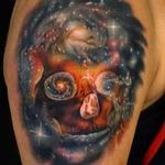 Space Skull Tattoo Design Thumbnail