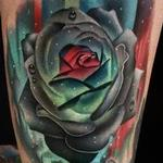 Northern Lights Rose Tattoo Design Thumbnail