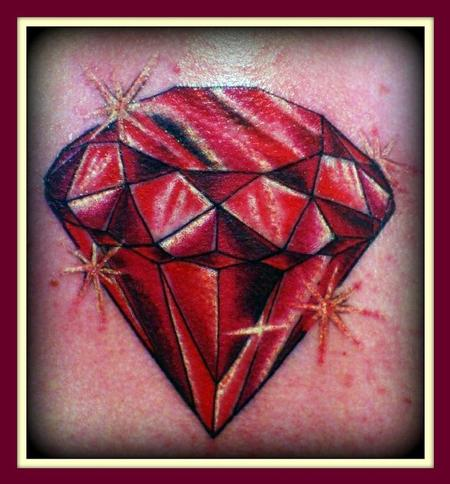 tattoos/ - Red diamond - 64017