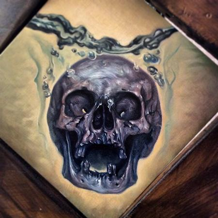 Art Galleries - skull temperance, oil paint, Antonio Proietti - 112434