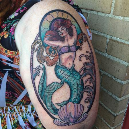 tattoos/ - Framed Mermaid - 115388