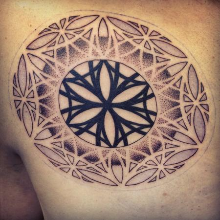 tattoos/ - Dotwork Blackwork Mandala - 101841