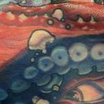 Crimson Octopus Tattoo Design Thumbnail