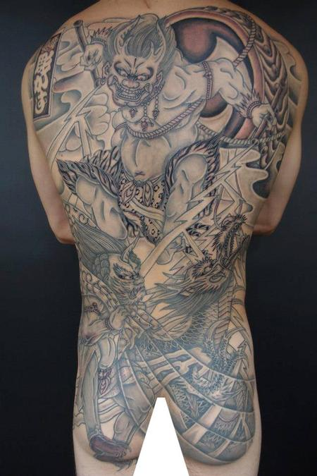 tattoos/ - Fullback Irezumi Oni Tattoo - 115348