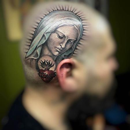 tattoos/ - Virgin Mary Head Tattoo - 115618