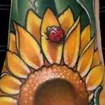 sunflower and ladybugs Tattoo Design Thumbnail
