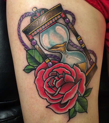 tattoos/ - Rose and Hourglass - 101824