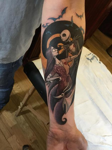 Movie Horror - Jack and Sally from A nightmare before Christmas