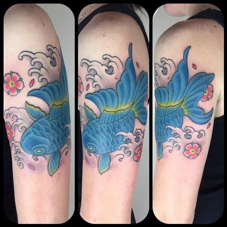 tattoos/ - Blue goldfish  - 122688