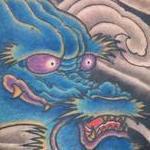 Blue dragon chest  Tattoo Design Thumbnail