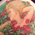Bette in a Bed of Roses Tattoo Design Thumbnail