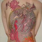 Traditional Dragon Backpiece Tattoo Design Thumbnail