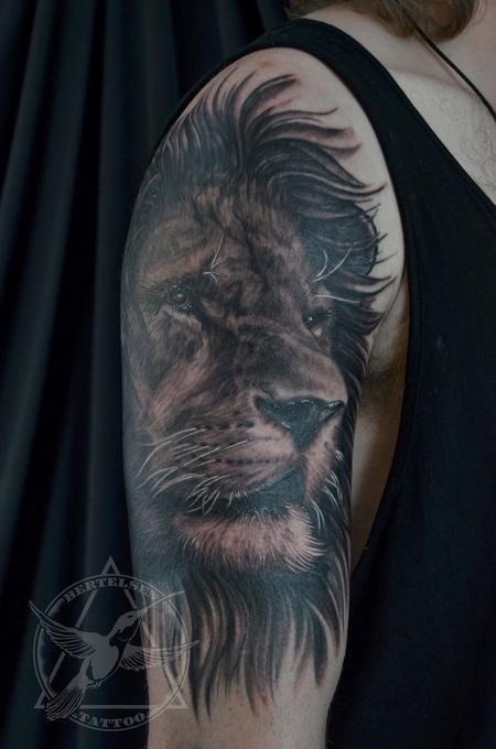 tattoos/ - Black&Grey Lion Portrait  - 119461