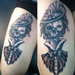 Victorian girl/skull Tattoo Design Thumbnail