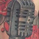 Mic Tattoo Design Thumbnail