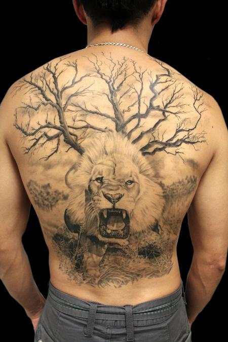 Realistic - Full Back Lion Piece
