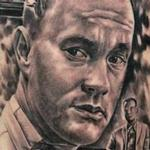 Forrest Gump portrait (Tom Hanks) Tattoo Design Thumbnail