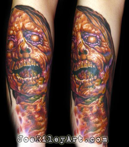 Skull - Evil Zombie Tattoo