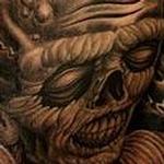 Evil Backpiece Tattoo Tattoo Design Thumbnail