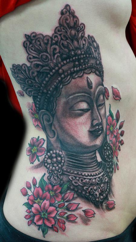 tattoos/ - Buddha and cherry blossom tattoo - 99043