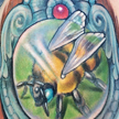 Bee in a frame tattoo Tattoo Design Thumbnail