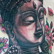 Buddha and cherry blossom tattoo Tattoo Design Thumbnail